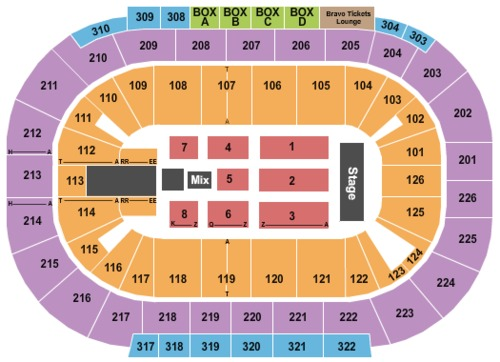 Mandalay bay events center tickets seating charts and schedule in