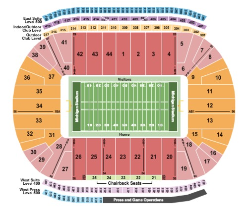 Michigan Stadium Tickets Seating Charts And Schedule In