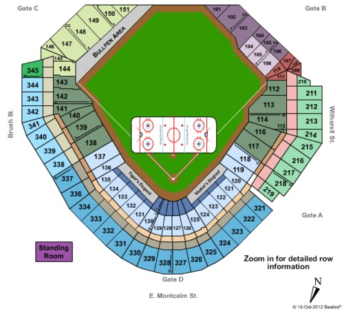 Comerica Park Detroit Michigan: Comerica Park Tickets, Seating Charts And Schedule In