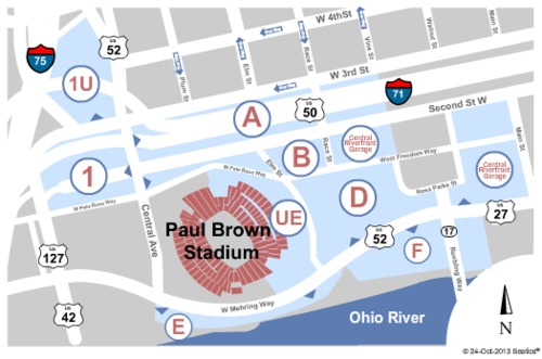 Paul Brown Stadium Parking Lots