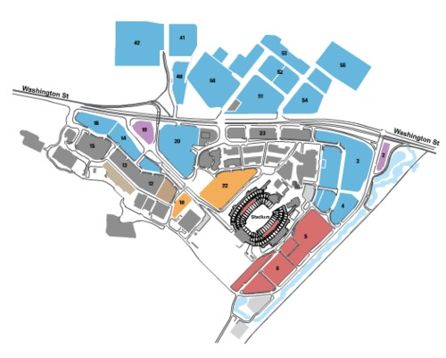 Gillette Stadium Parking Lots