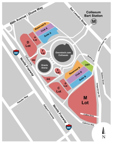 RingCentral Coliseum Parking Lots