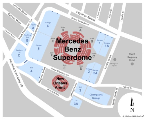 Mercedes-Benz Superdome Parking Lot