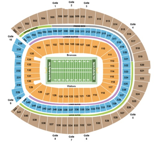 Empower Field At Mile High Tickets, Seating Charts And