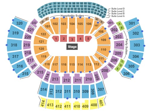Philips arena tickets seating charts and schedule in atlanta ga at