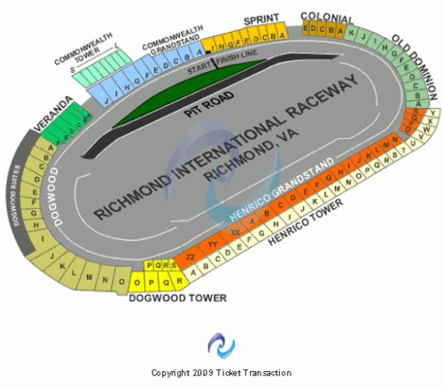 Richmond International Raceway Tickets Seating Charts And