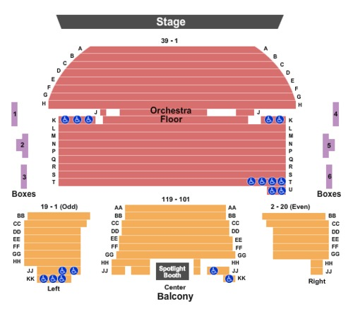 Temple Theater Tickets, Seating Charts and Schedule in ...