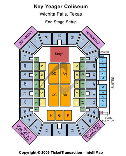 Kay Yeager Coliseum Tickets Seating Charts And Schedule