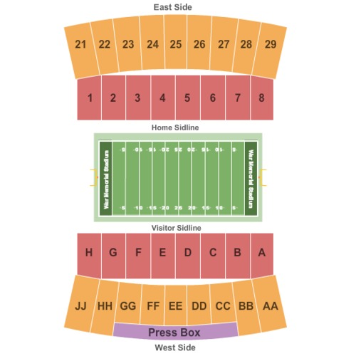 Location Of The New Warriors Stadium: War Memorial Stadium Tickets, Seating Charts And Schedule