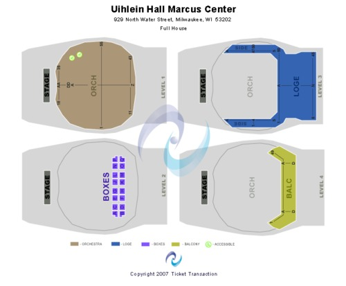 Uihlein Hall at Marcus Center For The Performing Arts