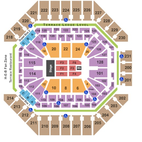 At Amp T Center Tickets Seating Charts And Schedule In San