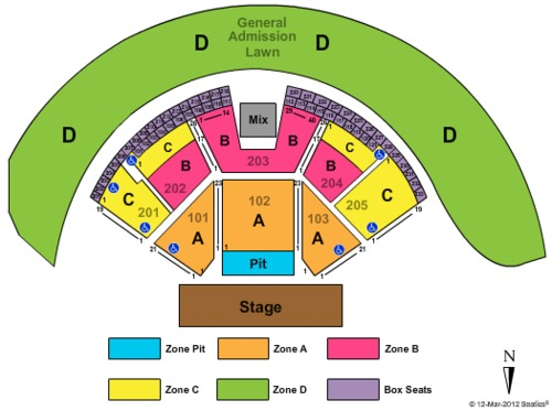 Gorge Amphitheatre Tickets Seating Charts And Schedule In